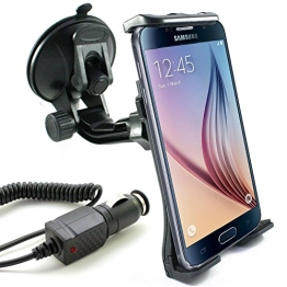 KFZ Halterung inkl. Auto Ladekabel für Samsung Galaxy S7 / S7 edge / S6 / S6 edge / S6 edge+ / S5 / S5 mini / S5 neo / S4 / S4 mini / S3 / S3 mini / S2 / S2 Plus / S / A3 / A5 / J5 / J1 - 1
