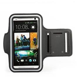 Lukoo® Neopren Sport Armband Tasche für HTC ONE M7 Armtasche Schutzhülle Etui Case Hülle Handytasche Sport Jogging und Fitnessstudio - 1
