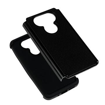 MAXFE.CO PC Handyhülle für LG G5 Hülle Tasche Back Cover Etui Rück Schutzhülle Harte Kunststoff PC Phone Case Hüllen mit Schwarz Muster Design - 3