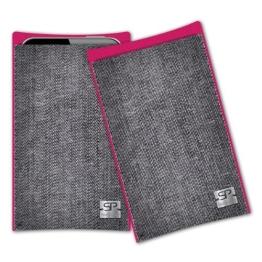 SIMON PIKE Handytasche Tokio I grau für Samsung GALAXY S4 mini, aus Jeans Stoff - 1