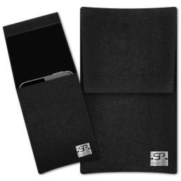 SIMON PIKE Hülle Handytasche Sidney 1 schwarz für Blackberry Z30 aus Filz - 1