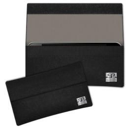 SIMON PIKE Samsung Galaxy Note 4 Filztasche NewYork in schwarz 7, handgefertigte Smartphone Filz Tasche aus echtem Wollfilz - 1