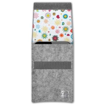 SIMON PIKE Samsung Galaxy S5 mini Filztasche Sidney in grau 8, handgefertigte Smartphone Filz Tasche aus echtem Wollfilz - 2