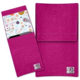 SIMON PIKE Samsung Galaxy S5 mini Filztasche Sidney in pink 10, handgefertigte Smartphone Filz Tasche aus echtem Wollfilz - 1
