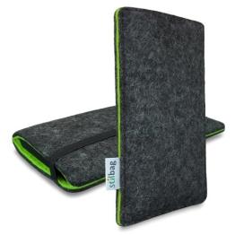 Stilbag Filztasche 'FINN' für Samsung Galaxy S4 mini - Farbe: anthrazit/grün - 1