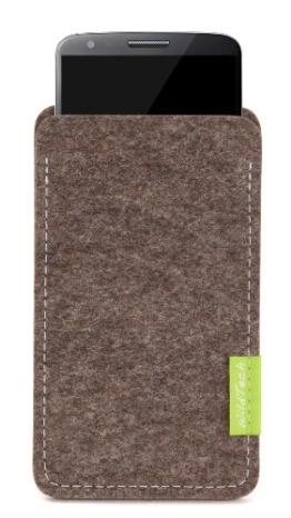WildTech Sleeve für LG G4 Hülle Tasche - 17 Farben (made in Germany) - Natur-Meliert - 1