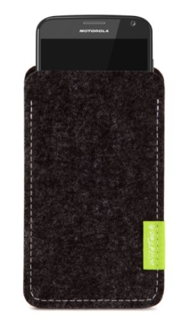 WildTech Sleeve für Motorola Moto X Play Hülle Tasche - 17 Farben (made in Germany) - Anthrazit - 1