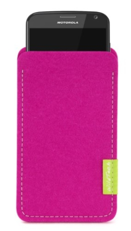 WildTech Sleeve für Motorola Moto X Play Hülle Tasche - 17 Farben (made in Germany) - Pink - 1