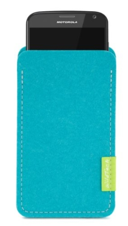 WildTech Sleeve für Motorola Moto X Play Hülle Tasche - 17 Farben (made in Germany) - Türkis - 1