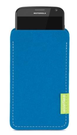 WildTech Sleeve für Motorola Moto X Style Hülle Tasche - 17 Farben (made in Germany) - Petrol - 1