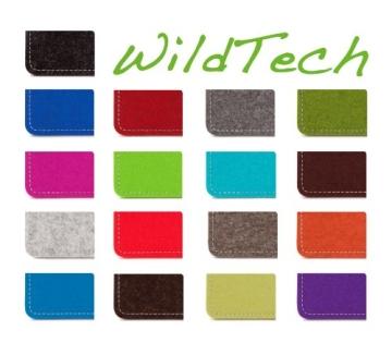 WildTech Sleeve für Samsung Galaxy S5 mini Hülle Tasche - 17 Farben (made in Germany) - Grau - 2