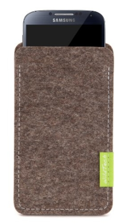 WildTech Sleeve für Samsung Galaxy S5 mini Hülle Tasche - 17 Farben (made in Germany) - Natur-Meliert - 1