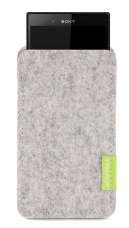 WildTech Sleeve für Sony Xperia Z5 Hülle Tasche - 17 Farben (Handmade in Germany) - Hellgrau - 1