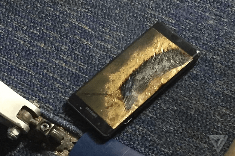 Samsung Galaxy Note 7 nach Brandschaden
