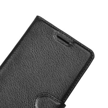 huawei Mate 9 pro hülle, KuGi huawei Mate 9 pro hülle / Fall - Hochwertige PU-Leder Ständer Wallet hülle für huawei Mate 9 pro smartphone.(Schwarz) - 2