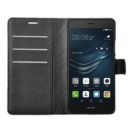 huawei Mate 9 pro hülle, KuGi huawei Mate 9 pro hülle / Fall - Hochwertige PU-Leder Ständer Wallet hülle für huawei Mate 9 pro smartphone.(Schwarz) - 1