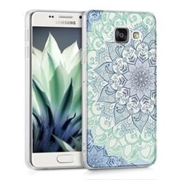 kwmobile TPU Silikon Hülle für Samsung Galaxy A3 (2016) IMD Design Schutzhülle - weiches Handy Cover Blume Ornament Design - 1