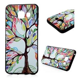 MAXFE.CO TPU Silikon Hülle für Samsung Galaxy A3 (2016 Edition) Handyhülle Schale Etui Protective Case Cover Rück mit Farbe-Baum Design Skin - 1