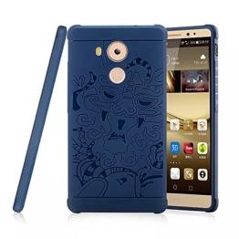 OFU® für Huawei Mate 9 Hülle,perfekt TPU Schutzhülle Tasche Case Cover Ultradünn Kratzfest Weich Flexibel Silikon für Huawei Mate 9-blau - 1