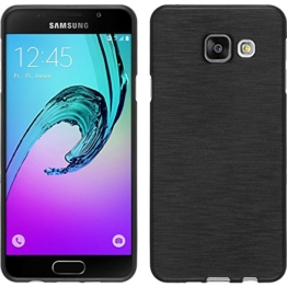 PhoneNatic Samsung Galaxy A3 (2016) A310 Hülle Silikon silber brushed Case Galaxy A3 (2016) A310 Tasche + 2 Schutzfolien - 1