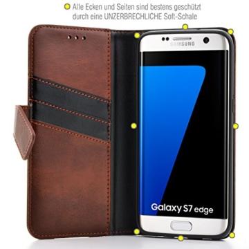 Samsung Galaxy S7 EDGE ( G935F ) Hülle von elephones mit UNZERBRECHLICHER SCHALE Handytasche Schutzhülle Handyschutz Handyhülle Wallet Case Klapp Schutz Handy Tasche Hülle Cover Etui Hüllen Taschen - 2