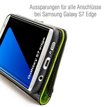 Samsung Galaxy S7 EDGE ( G935F ) Hülle von elephones mit UNZERBRECHLICHER SCHALE Handytasche Schutzhülle Handyschutz Handyhülle Wallet Case Klapp Schutz Handy Tasche Hülle Cover Etui Hüllen Taschen - 4