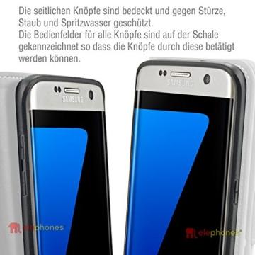Samsung Galaxy S7 EDGE ( G935F ) Hülle von elephones mit UNZERBRECHLICHER SCHALE Handytasche Schutzhülle Handyschutz Handyhülle Wallet Case Klapp Schutz Handy Tasche Hülle Cover Etui Hüllen Taschen - 5