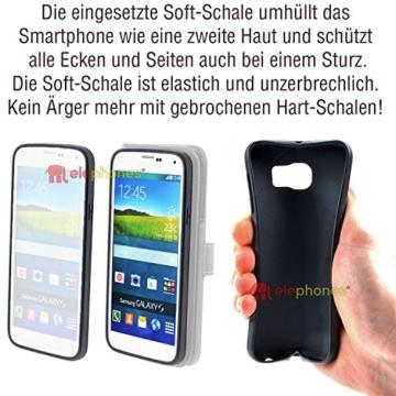 Samsung Galaxy S7 EDGE ( G935F ) Hülle von elephones mit UNZERBRECHLICHER SCHALE Handytasche Schutzhülle Handyschutz Handyhülle Wallet Case Klapp Schutz Handy Tasche Hülle Cover Etui Hüllen Taschen - 7