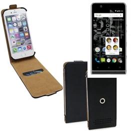 Schutz-Hülle für Kodak Ektra, schwarz 360° Handy Case Hülle Smartphone Tasche mit Kameraschutz. flach & elegant. Flipcover aus Kunstleder - K-S-Trade - 1