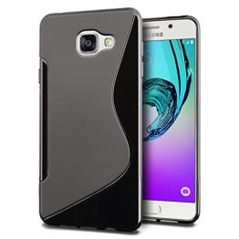 SLEO Samsung Galaxy A3 (2016) Hülle - SLEO S-TPU Ultradünne Schutzhülle, SLEO [Anti-Scratch/Rutsch] [Staubdicht] Translucent Silikon Tasche für Samsung Galaxy A3 (2016) - Schwarz - 1