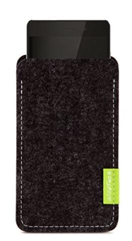 WildTech Sleeve für Huawei Mate 9 Hülle Tasche aus echtem Wollfilz - 17 Farben (Handmade in Germany) - Anthrazit - 1