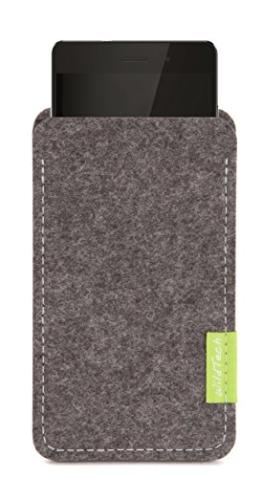WildTech Sleeve für Huawei Mate 9 Hülle Tasche aus echtem Wollfilz - 17 Farben (Handmade in Germany) - Grau - 1
