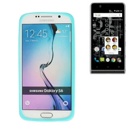 Silikonbumper / Bumper aus TPU für Kodak Ektra, Türkis / Blau | Schutzrahmen Schutzring für Smartphone Case Hülle Schutzhülle - K-S-Trade (TM) - 1