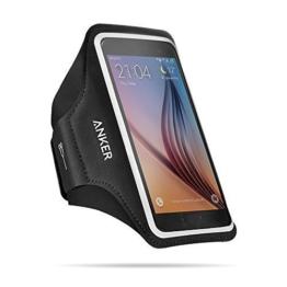 Anker Universal Sport Armband für Handys, Tragehülle für Smartphones mit 4.7 - 5.2 Zoll Bildschirm Inklusive iPhone 7, 6, 6s, Samsung S6 / S6 edge, Samsung S7 und Weitere, mit Schlüssel, Karten und Kopfhörer Kabel Fächern -