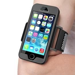 Apple iPhoneSE (2016), 5S , 5 Armband , SUPCASE Sport Hülle Ideal zum Joggen / Zubehör (Schwarz) -