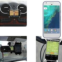 """Autohalterung & Tischständer für Google Pixel, schwarz """"Spider"""". Lüftungshalterung Halterung Rückspiegel, Fahrradhalterung etc. Stativ - K-S-Trade -"""