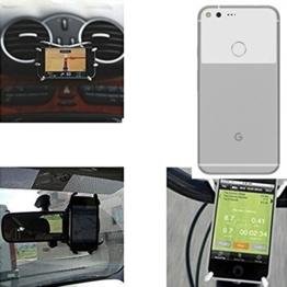 """Autohalterung & Tischständer für Google Pixel XL, schwarz """"Spider"""". Lüftungshalterung Halterung Rückspiegel, Fahrradhalterung etc. Stativ - K-S-Trade -"""