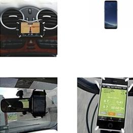 """Autohalterung & Tischständer für Samsung Galaxy S8+, schwarz """"Spider"""". Lüftungshalterung Halterung Rückspiegel, Fahrradhalterung etc. Stativ - K-S-Trade -"""