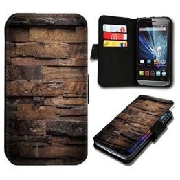 Book Style HTC One M9 Premium PU-Leder Tasche Flip Brieftasche Handy Hülle mit Kartenfächer für HTC One M9 - Design Flip SB52 -