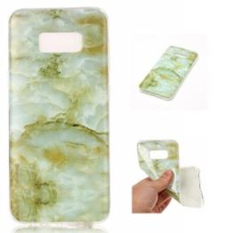 Cozy Hut Für Samsung Galaxy S8 Edge Handyhülle mit Marmor / Marble Design(grün / weiß) | Handytasche | | Schale | | Hülle | | Case | Handy-etui | TPU-Bumper | Soft Case | Schutzhülle Cover für den optimalen Schutz ihres Samsung Galaxy S8 Edge - Grüne Marmor -