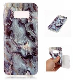 Cozy Hut Für Samsung Galaxy S8 Handyhülle mit Marmor / Marble Design(grau / weiß) | Handytasche | | Schale | | Hülle | | Case | Handy-etui | TPU-Bumper | Soft Case | Schutzhülle Cover für den optimalen Schutz ihres Samsung Galaxy S8 (5,2 Zoll) - Grauer Marmor -