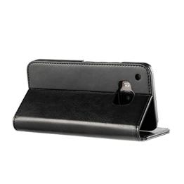 EasyAcc HTC One M9 HTC One S9 Hülle Tasche Wallet Case Schutzhülle Handyhülle mit standfunktion Card Holder Schwarz Kunstleder -