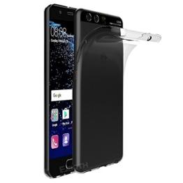 EJBOTH Huawei P10 Hülle Case hoch transparent Schutzhülle aus TPU Material, komplett Schutz gegen Stoß, Kratzer und Risse [ Transparent ] -