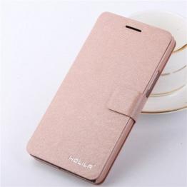 Eleoption® Smartphone Schutzhülle Leder Hülle mit Standfunktion und Karte Halter (iphone 7, Champagner-Rosa) -