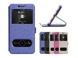 """EMIRROW Huawei P10 (5.2"""") Hülle,PU Leder Flip Case mit Stand -[Sichtfenster + Magnetverschluss]- Ultra Slim harte Kunstleder Schutzhülle für Huawei P10 (5.2"""") (Blau) -"""
