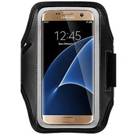 """Enuo Sport Sweatproof Armband Hülle Case + Schlüsselhalter füriPhone 6/6S plus Samsung Galaxy S6/S7 Edge (5.5"""") , mit veränderbarer Länge, Safey Design, geeignet für Bewegung, Gymnastik, Jogging, Workout, Rad fahren -"""