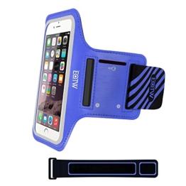 EOTW Sportarmband Handyhülle universell passend für iPhone 5/5s/SE, Ideal für Sport, Freizeit aber auch in der Arbeit praktisch zu verwenden (4,0 Zoll, Blau) -