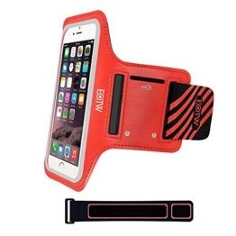 EOTW Sportarmband Handyhülle universell passend für iPhone 5/5s/SE, Ideal für Sport, Freizeit aber auch in der Arbeit praktisch zu verwenden (4,0 Zoll, Rot) -