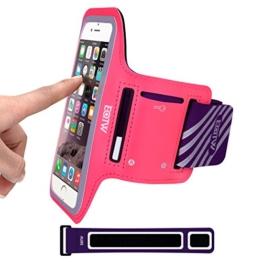 EOTW Sportarmband Handyhülle universell passend für iPhone, Samsung, HTC, usw., Oberarmtasche In Verschiedenen Farben und Größen für Laufen (4,7 Zoll, Pink) -