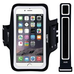 EOTW Sportarmband Handyhülle universell passend für iPhone, Samsung, HTC, usw., Oberarmtasche In Verschiedenen Farben und Größen für Laufen (5,5 Zoll, Schwarz) -